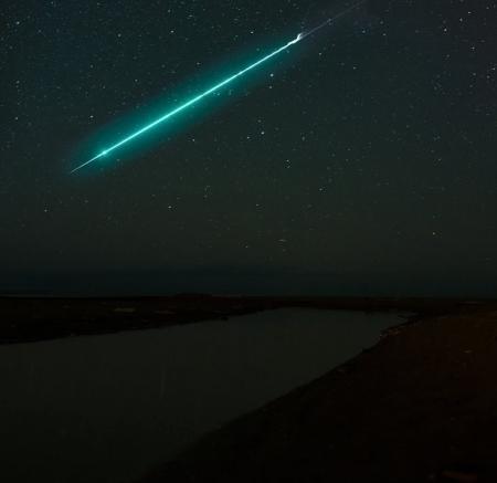 Green Fireball USA sky