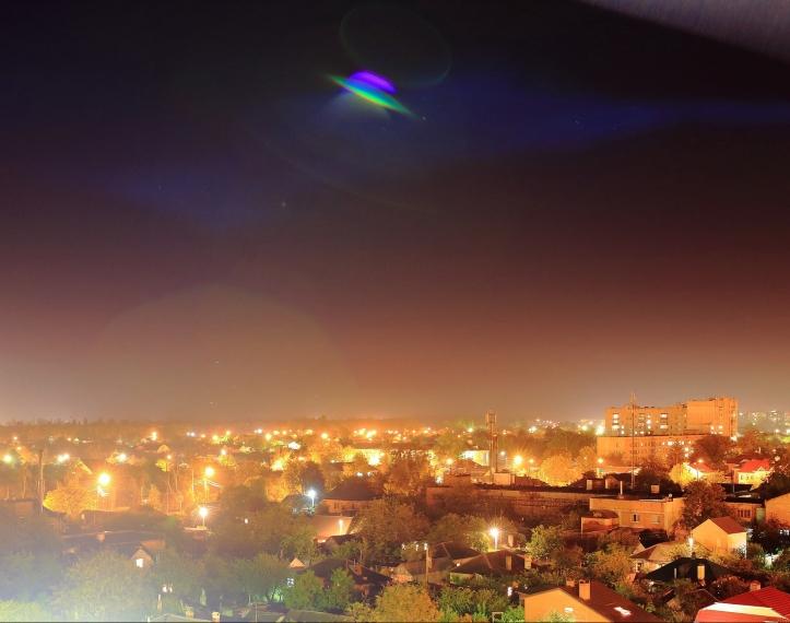 UFO night town